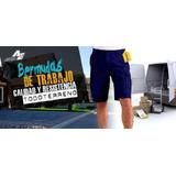 Bermudas Cargo, Pantalones, Ropa De Trabajo, 100% Algodón