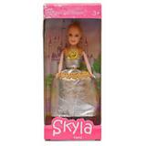 Boneca Skyla Vestido Festa De Gala Menina Criança Feliz