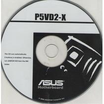 Cd Drivers Original Placa Mae Asus P5vd2-x Series Frete Grat