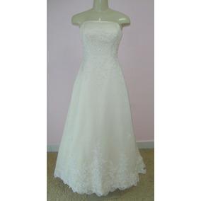Vestido De Noiva - 38 - Princesa - Pronta Entrega - Vn00058
