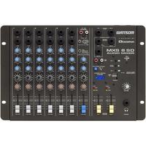Mesa De Som Stereo 8 Canais Mxs 8 Sd Wattsom Entrada Usb