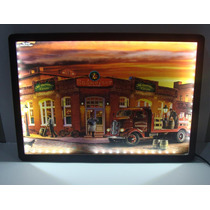 Placa Quadro Led Luminoso Adesivada 28x40cm- Budweiser