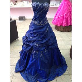 Vestido De Xv En Color Azul Cobalto Marca Maris