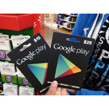 Tarjeta Google Play Store Card $15 Android Cel Tablet Movil