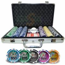 Maleta Poker 300 Fichas Profissionais Numeradas Kit Completo
