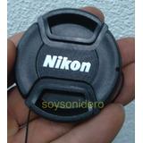 Tapa Cubre Lente Nikon 52mm Con Hilo D3100 D3000 D5100 D70