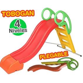 Tobogan Vegui 3 Escalones 4 Niveles Agua Plegable Pileta