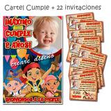 Jake Y Los Piratas: Invitaciones Cumple Y Cartel Regalo!!!