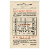 Folleto Sesma & Segura Remate De Lotes Rosario Santa Fe 1958