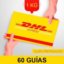 60 Guia Prepagada Dia Siguiente Dhl 1kg +recoleccion Gratis