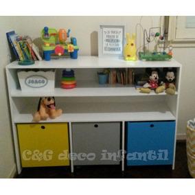 Mueble Cubos Baul Guardajuguetes Organizador Infantil Repisa