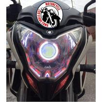 Faro Ojo De Angel Ojo Demonio Lupa Led Auto Moto Iron Man