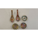 Porcelana China Platos Y Cucharitas Oportunidad!!!