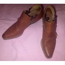 Versátil Zapato Dama Unisex Pura Piel / Botin Western T-37