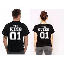 Playeras Novios King Queen,camisas Parejas,playeras Iguales