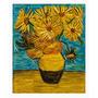 Obra De Arte. Girasoles Van Gogh. Collage Sobre Madera