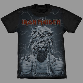 Camiseta Premium Iron Maiden Powerslave.