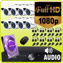 Kit Seguridad Full Hd 1080p Dvr 8ch + 8 Camaras +1tb + Audio
