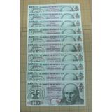 Ganga Lote 10 Billetes De $10.00 Hidalgo, Sin Circular Serie