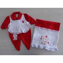 Saída Maternidade Plush Ursinha Coroa Lançamento Cód: 177