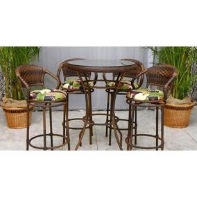 Conjunto 4 Banquetas + Mesa Para Bar Barzinho Cozinha Balcão