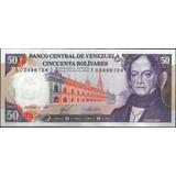 Venezuela 50 Bolivares 3 Nov 1988 Serie T 8 Dig P65b