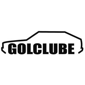 Adesivo Decorativo Parabrisa Carro Club - Gol Quadrado Clube