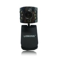 Webcam 16mp + 30fps + Visão Noturna Led + Microfone + Zoom