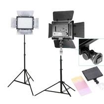 Kit Estudio Completo Tripe Iluminador Led 300 Filmagem Yn300