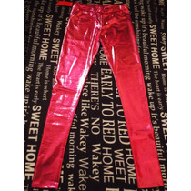Calzas Leggings Chupin Pantalon Metalizadas Colores Nuevas