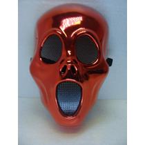 Máscara Pânico Vermelha Para Halloween