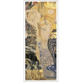 Lienzo Tela, Serpientes De Agua 1, Gustav Klimt, 42x100 Cm