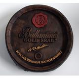 Placa Tampa Barril Decorativa Em Gesso Balantines Gold Seal
