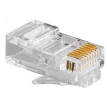 Paquete 100 Piezas Plug Conector Rj45 Cable Red Utp Cat 5e