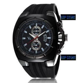 Relógio V6 Analógio Preto Speed Quartz Masculino Original