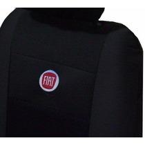 Capas Banco Kit Jogo Tecido Logo Fiat Uno Mille Univesal