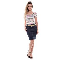 Conjunto Conjunto Look Saia Jeans Via Tolentino Sem Juros