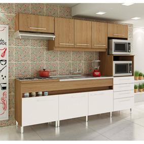 Cozinha Compacta Decibal New Open 8 Portas E 4 Gavetas - Éba