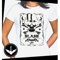 Camiseta Slash Guns N Roses Cartola Ou Baby Look