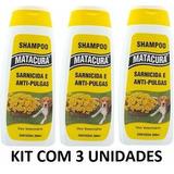 Shampoo Carrapato Pulga Sarna Cachorro Matacura 200ml Kit C3