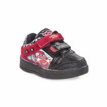Zapatillas Addnice Disney Bebe Cars Con Luz Velcro Oferta!!