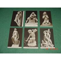 * 6 Cartões Postais Franceses Muito Antigos *