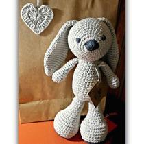 Conejo A Crochet Hilo De Algodón 100% Amigurumis V. Urquiza
