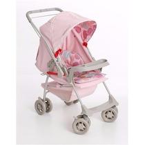 Carrinho De Bebe Galzerano Milano Reversível Rosa Bebê