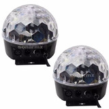 2 Luz Bola Disco Led Dmx Crystal Ball Esfera, Para Djs