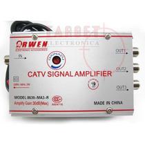Amplificador De Antena Catv 30 Db 3 Salidas C/control Gananc