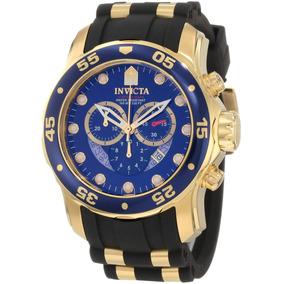 Relógio Invicta Scuba Pro Diver 6983/ 21929 B. Á Ouro 18k
