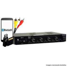 Receiver Amplificador Frahm Slim 4500 480w Rms Bluetooth