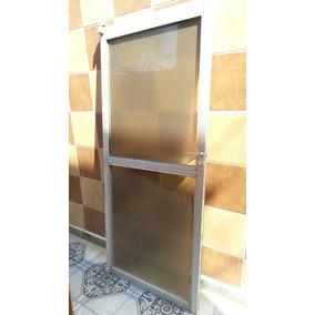 Puerta De Aluminio Con Cristal Templado