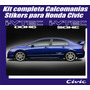 Kit Calcomanias Stikers Honda Civic Sohc Y Dohc